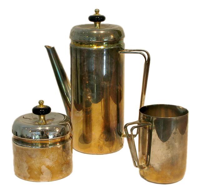 Silver plate coffee service: $145