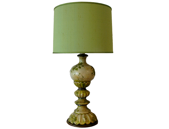 Oversized lamp with silk shade: $390