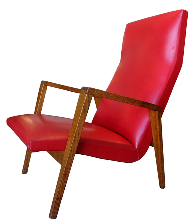 Open frame high back lounge chair