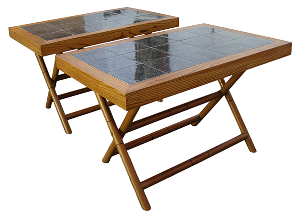Tile side tables: $1800 / pair