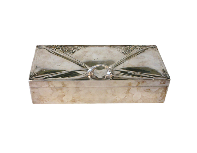 Art Nouveau silverplate box: $900