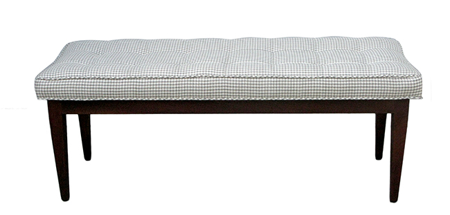Walnut bench: $990
