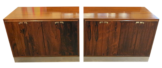Milo Baughman rosewood and walnut cabinets.jpg