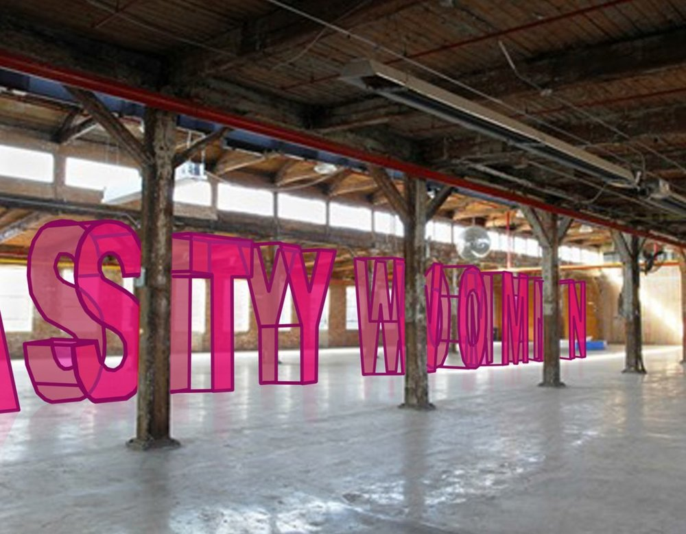 "The Knockdown Center in Maspeth, Queens will hang the works of over 700 female-identifying artists on oversized wire mesh letters, which spell out ""NASTY WOMEN."""