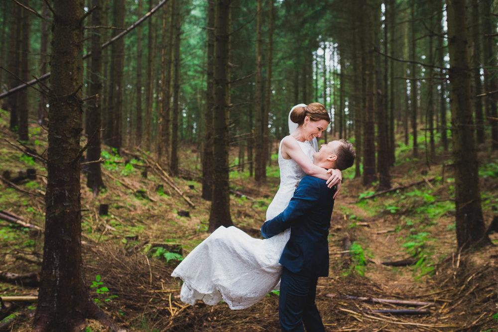 Naturlige bryllupsbilleder Nordjylland