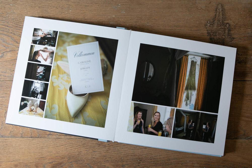 Bryllupalbums - Flere pakker indeholder et album med billeder fra jeres store dag.