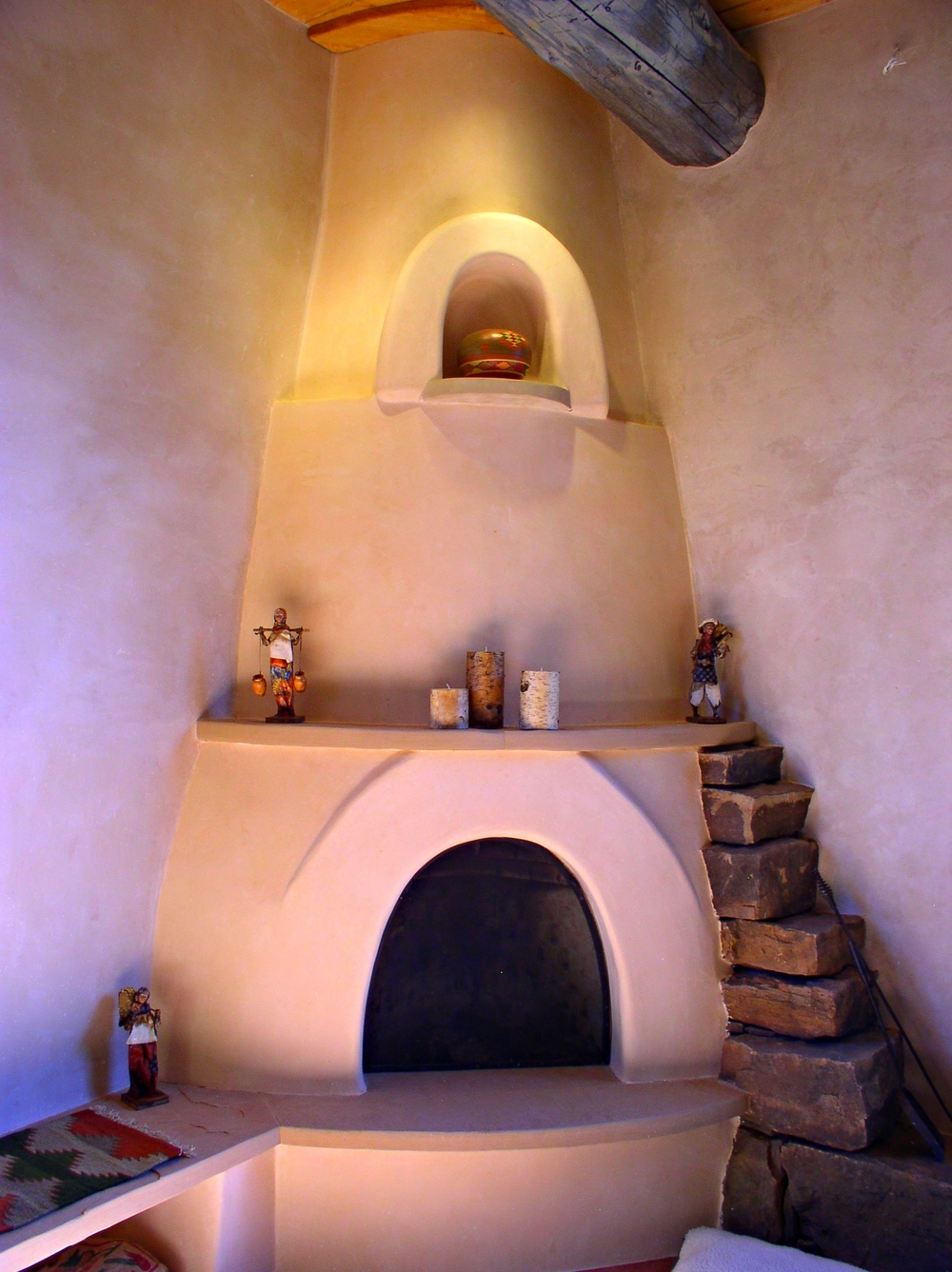 Fireplace masonry by Juan Madrid.