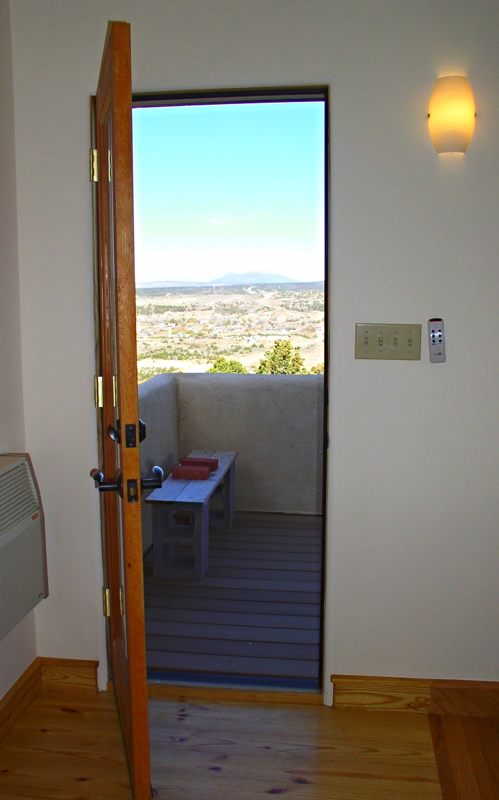 Doorway to deck.