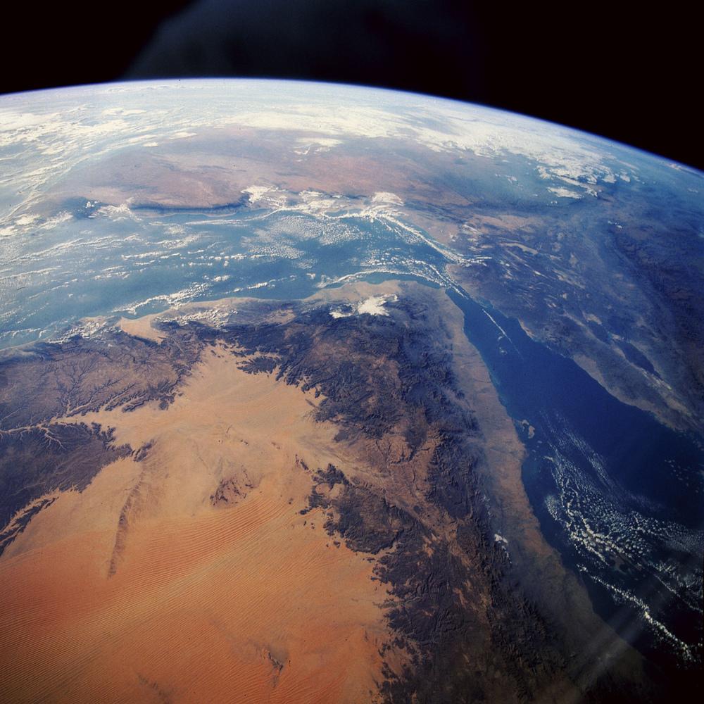 Triángulo de Afar. Valle del Rift. Misión STS-61, Endeavour. Fuente  Nasa .