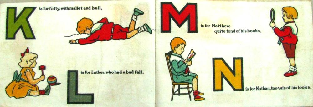My Playmates ABC  ; 1906; Saafield's Muslin Books; American