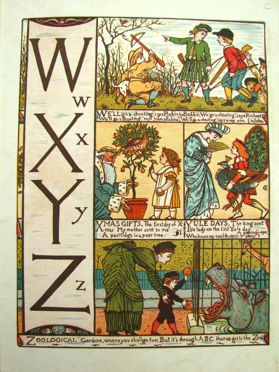BABY'S OWN ALPHABET, Walter Crane's Toy Books; 1865