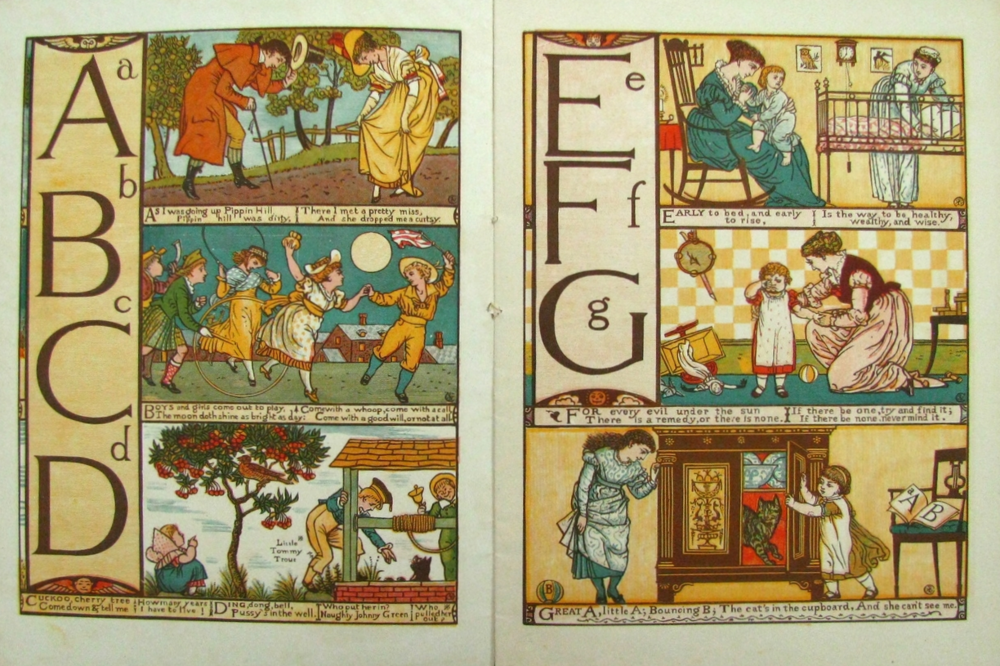 BABY'S OWN ALPHABET  , Walter Crane's Toy Books; 1865