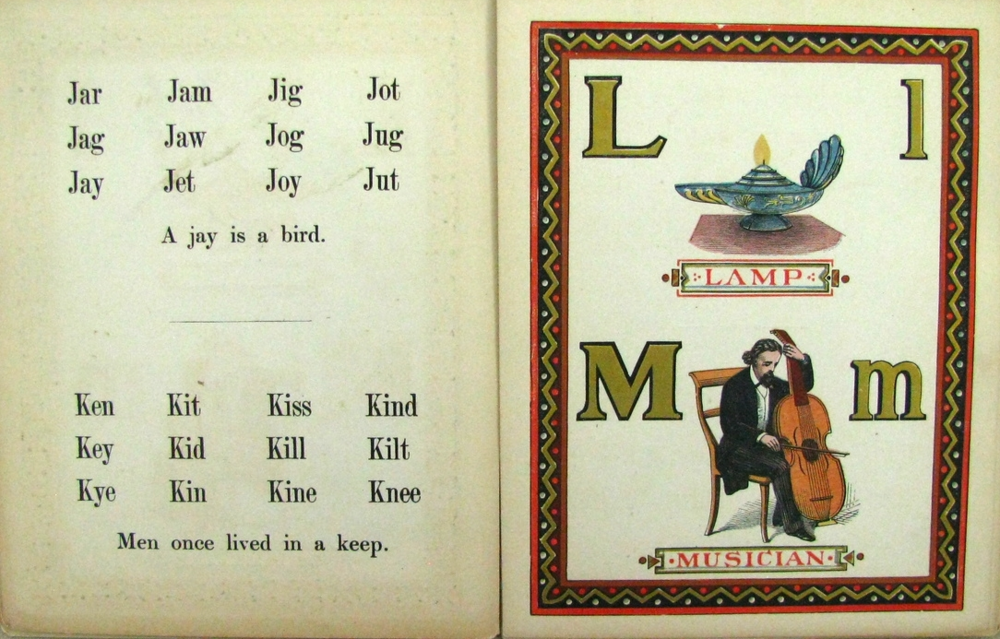 THE ALEXANDRA ALPHABET; 1868