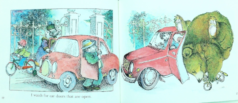 Interior pages from  The Bear's Bicycle