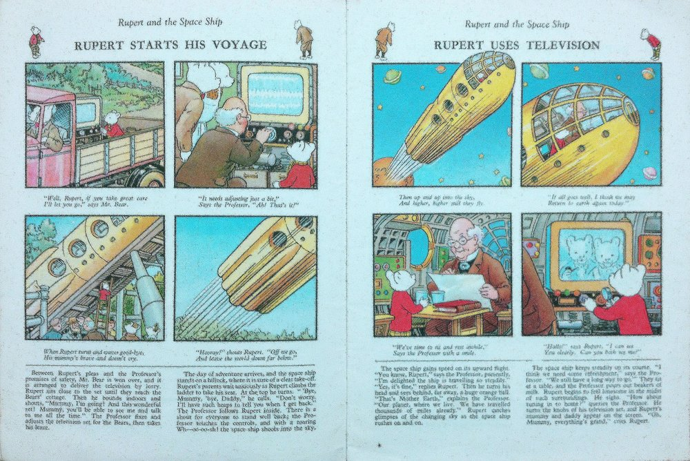 Interior pages from  Rupert and the Space Ship