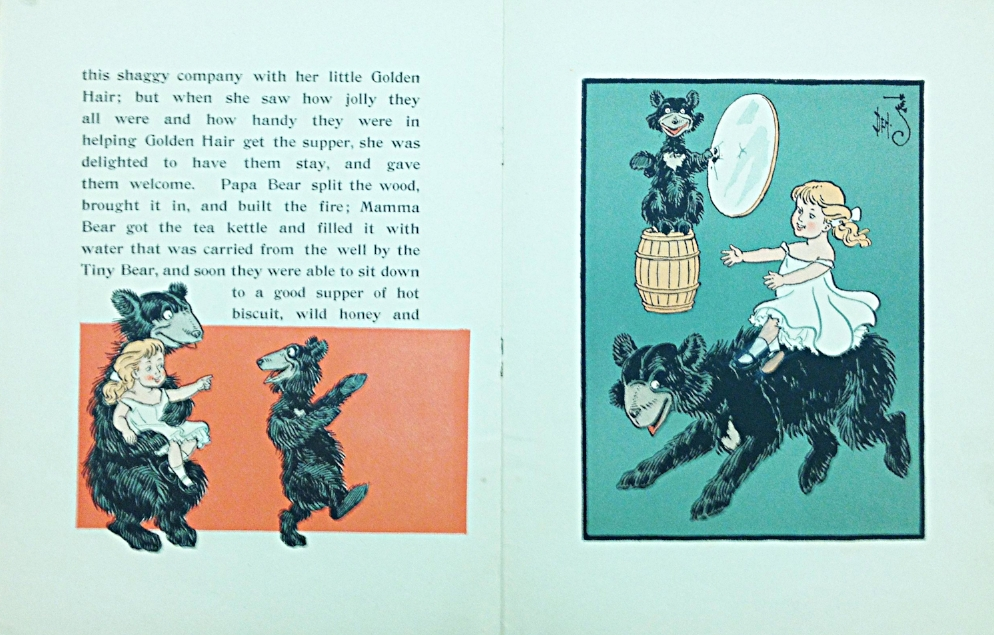 Interior pages   fro  m   Denslow's Three Bears