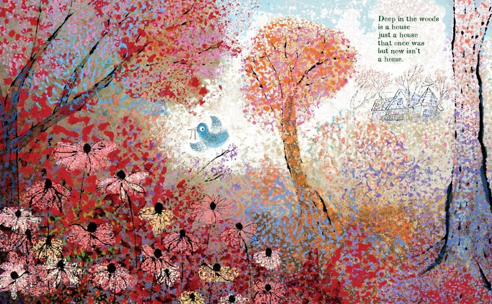 Interior spread from   A House That Once Was,   by Julie Fogliano, illustration by Lane Smith