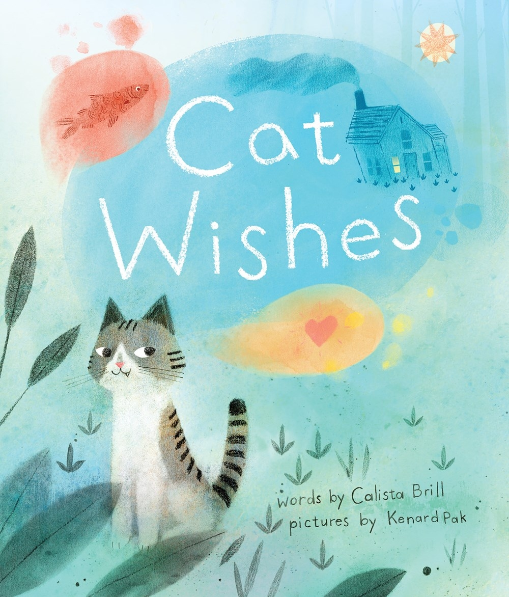 Cover of  Cat Wishes,  by Calista Brill, illustration by Kenard Pak