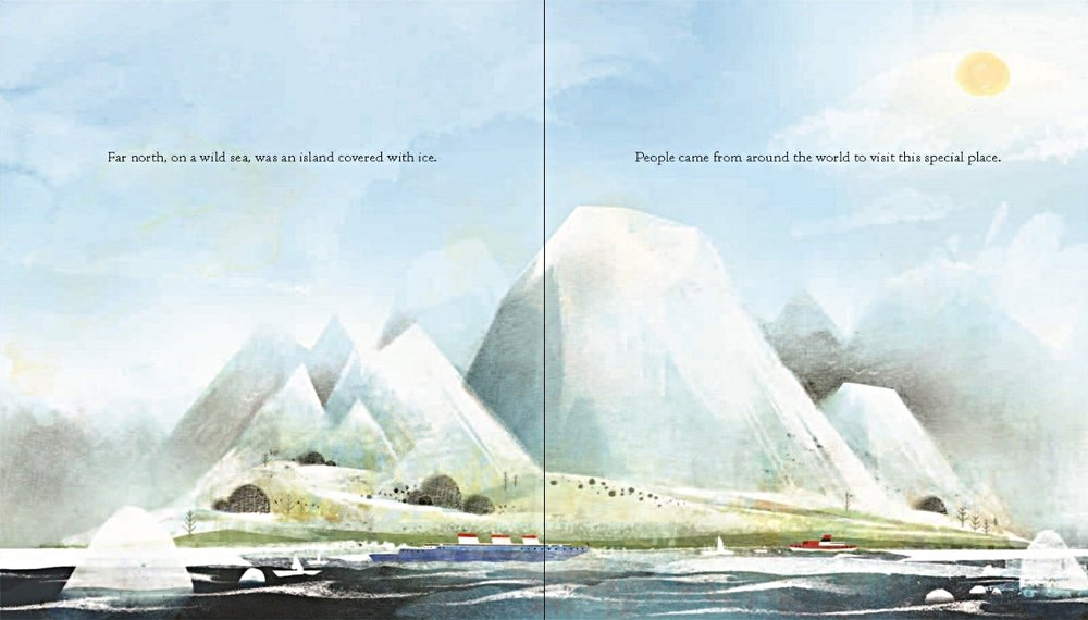Interior spread from  The Fog , by Kyo Maclear, illustration by Kenard Pak