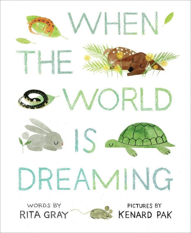 Cover of  When the World Is Dreaming,  by Rita Gray, illustration by Kenard Pak