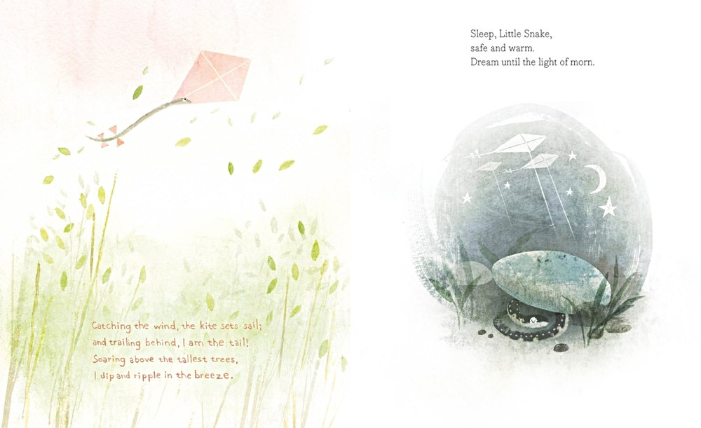 Interior spread from  When the World Is Dreaming,  by Rita Gray, illustration by Kenard Pak