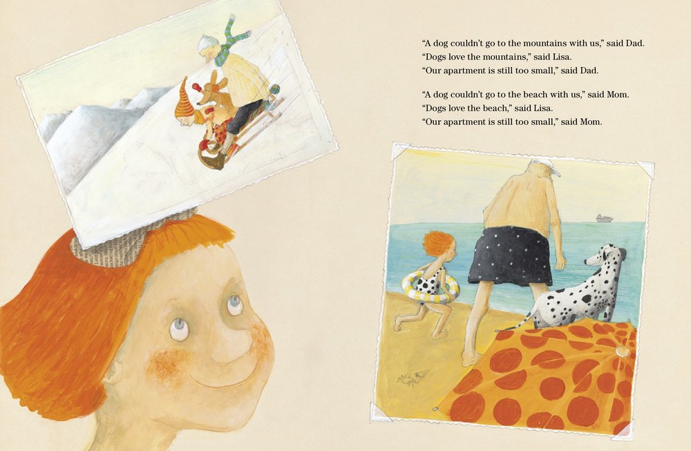 Interior spread from   I Want a Dog!  , Helga Bansch