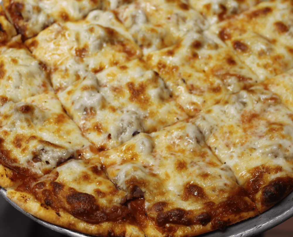Sausage & pepperoni thin crust pizza
