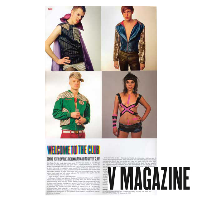 V Magazine (Print),  Welcome to the Club  2002