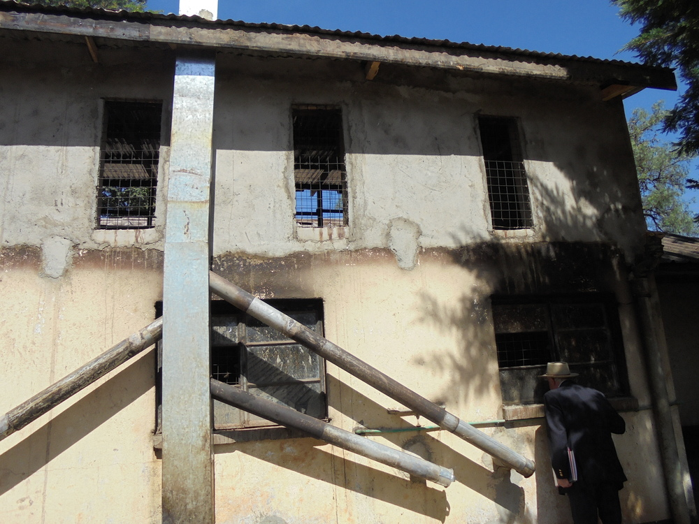 This is the back of the Carey Francis/Tom Mboya (Lower/Upper Junior House) kitchens. Note the absence of glass in the windows and the return to wood-burning stoves.