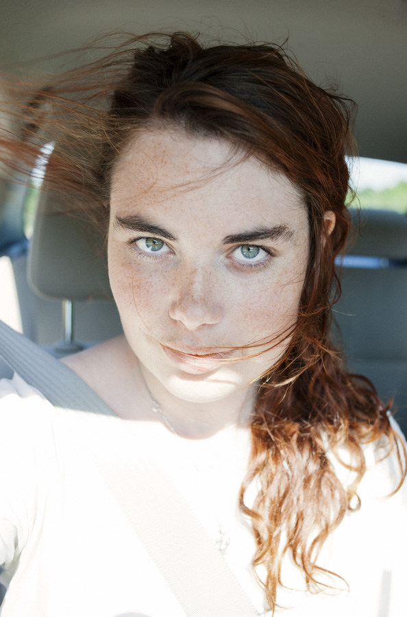 Self-portrait in car, 2012