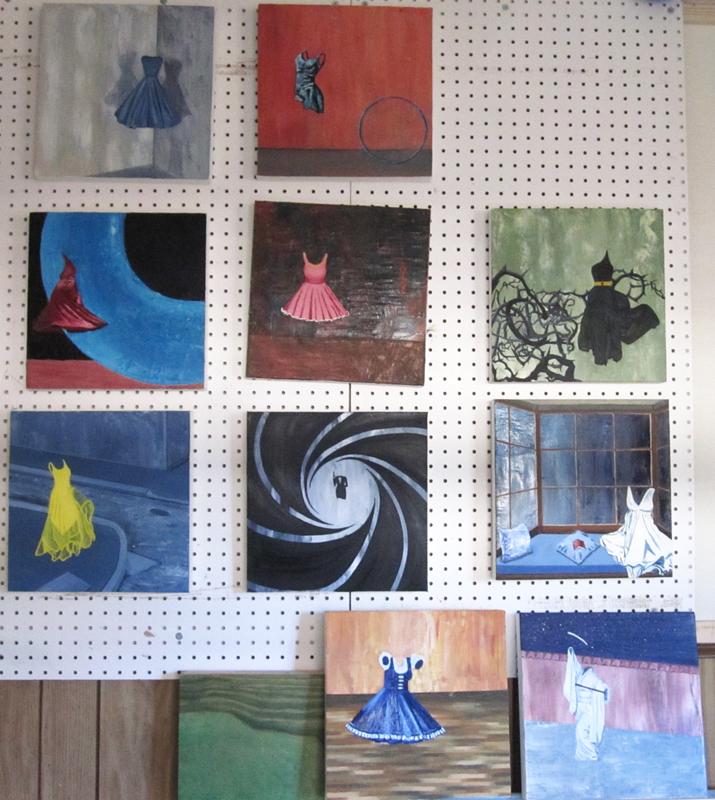 """In-progress paintings in my series """"Flawless"""""""