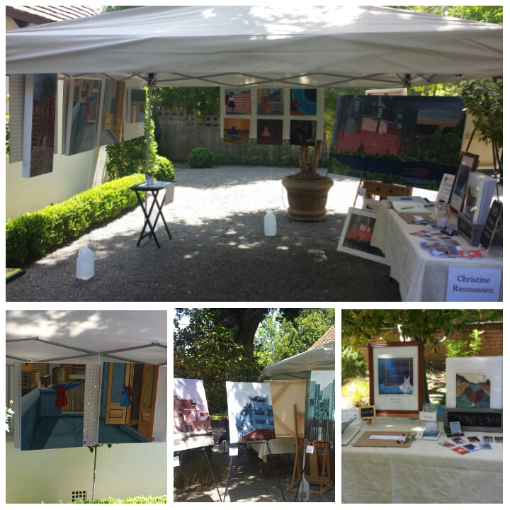 My tent setup for Weekend 1 of Silicon Valley Open Studios (SVOS) in Palo Alto, May 2-3.