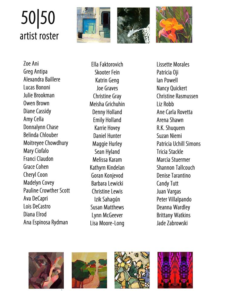 List of 7th Annual 50|50 Show Artists