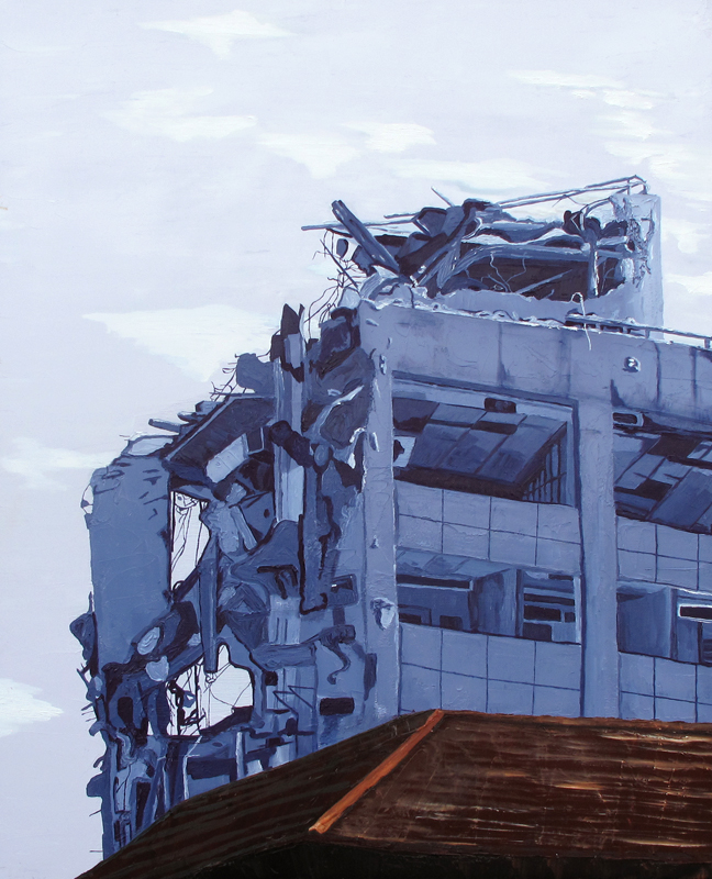 C. Rasmussen |  Deconstruction  | Oil on canvas | 30 x 24 inches | $900