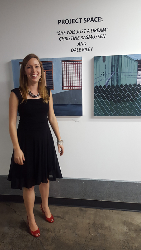 C. Rasmussen - so happy at the Opening Reception:)