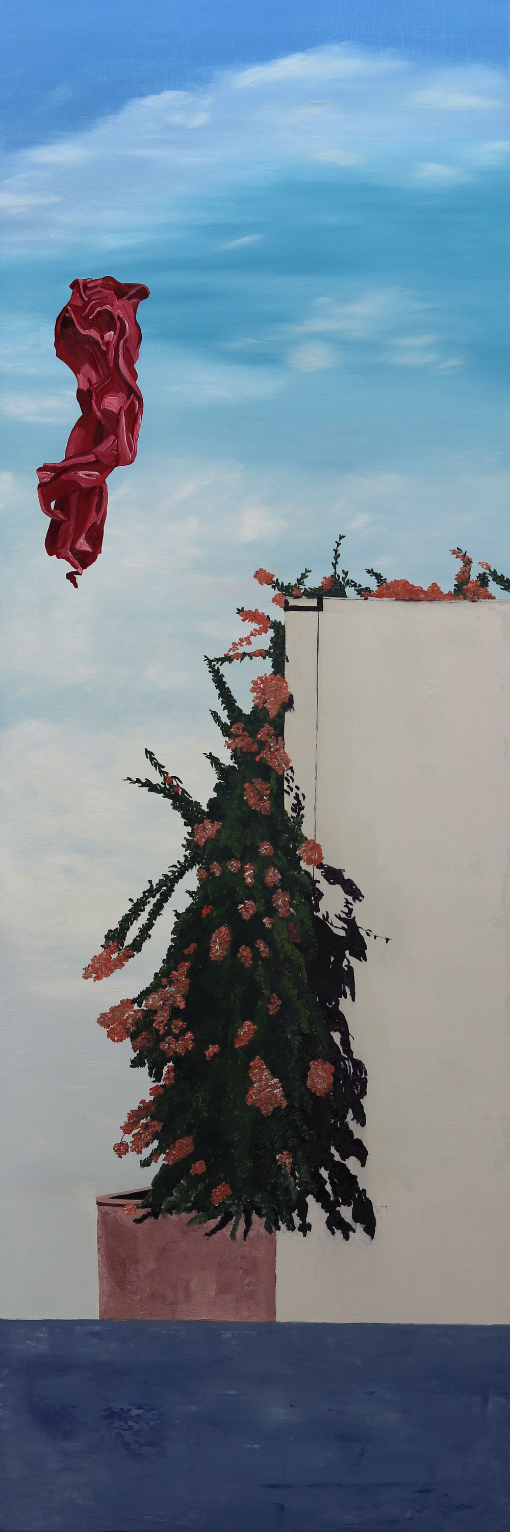 C. Rasmussen |  Floating Above  | 30x10 inches | oil on canvas.