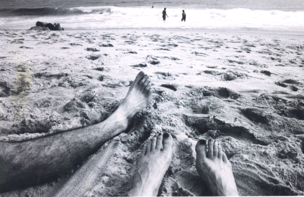 Our feet at the beach in Rio 1999