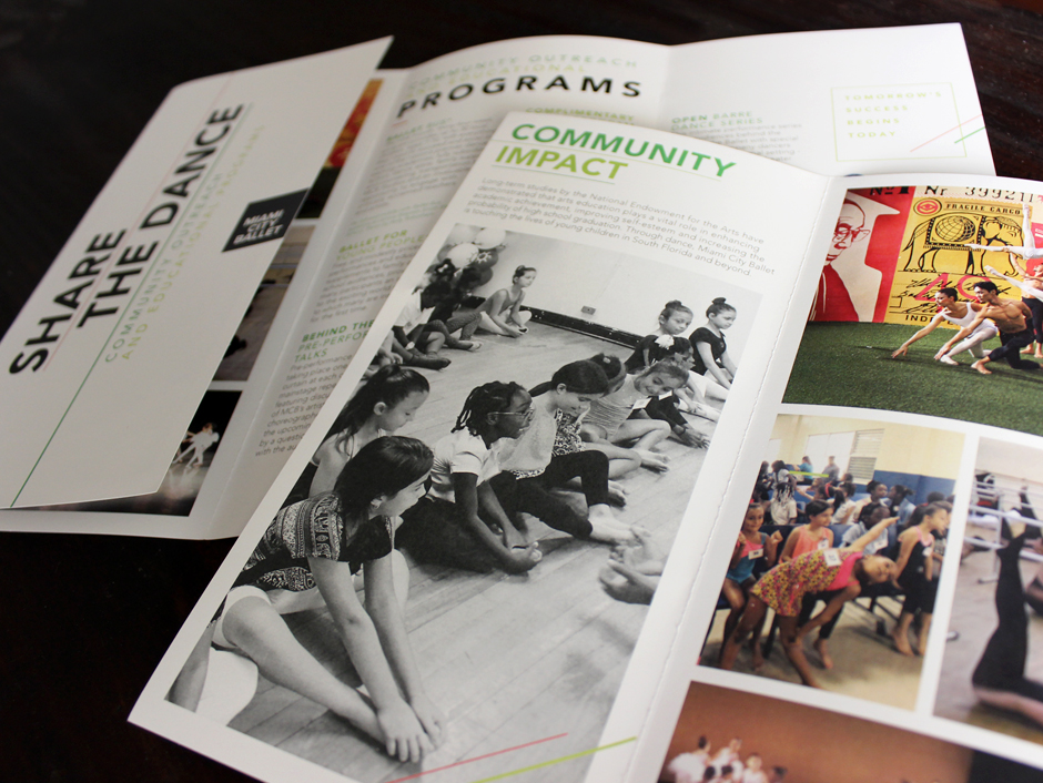 Share the Dance, community outreach pamphlet