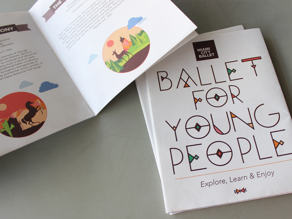 Ballet For Young People fold out activity book and poster