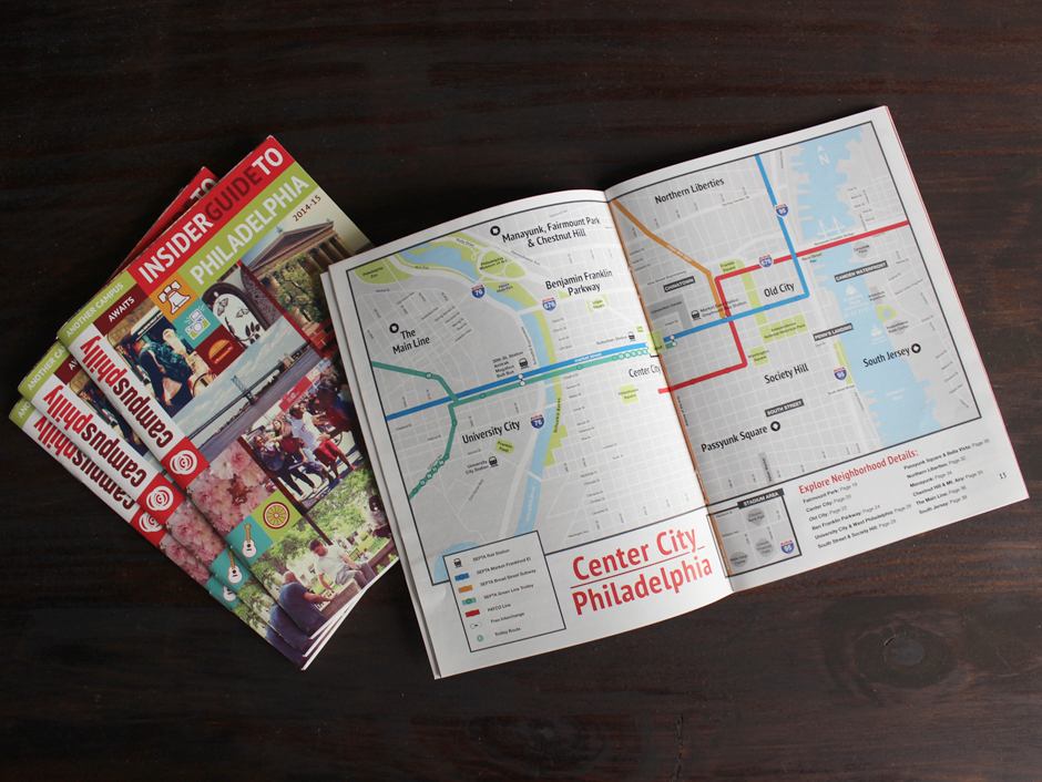 Center City map, Insider Guide to Philadelphia, an annual publication,