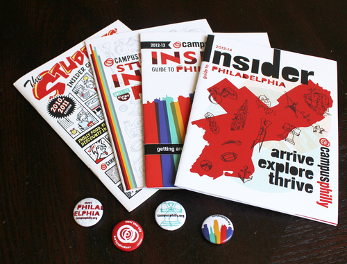 Past covers, Insider Guide to Philadelphia, an annual publication