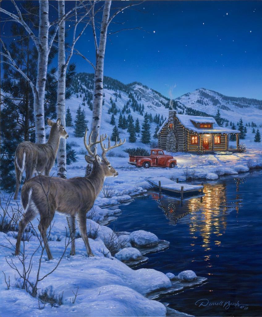 At Waters Edge Darrell Bush Art