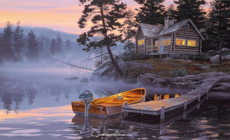 Silent Shores Darrell Bush Art
