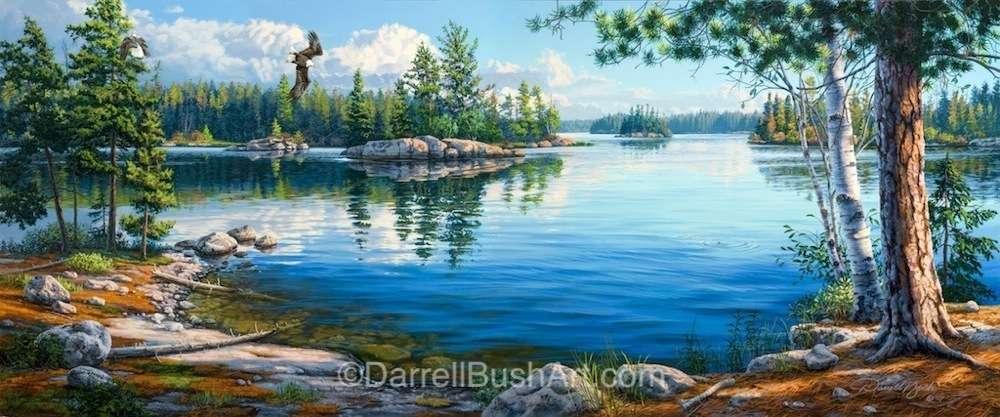 sky blue waters  u2014 darrell bush art