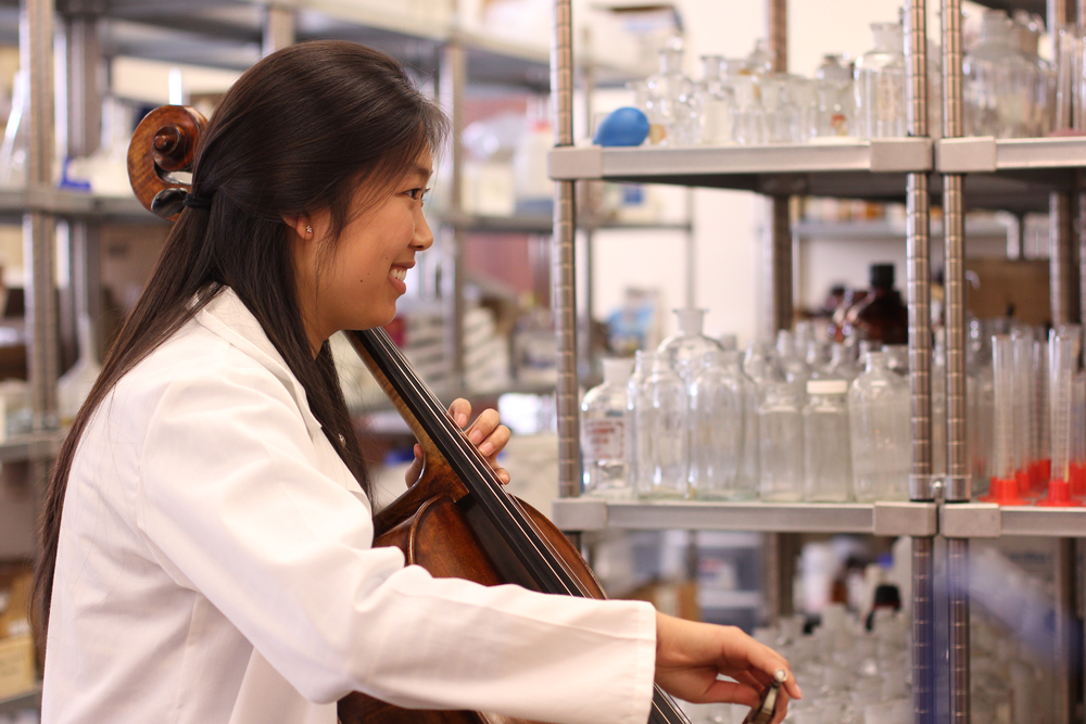 Linda Oh is a senior at Christopher Newport University. She is both a pre-med student and a cellist in CNU's orchestra.