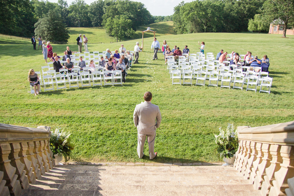 Historic Stratford Hall Plantation wedding, navy and gold, in the Northern Neck of Virginia