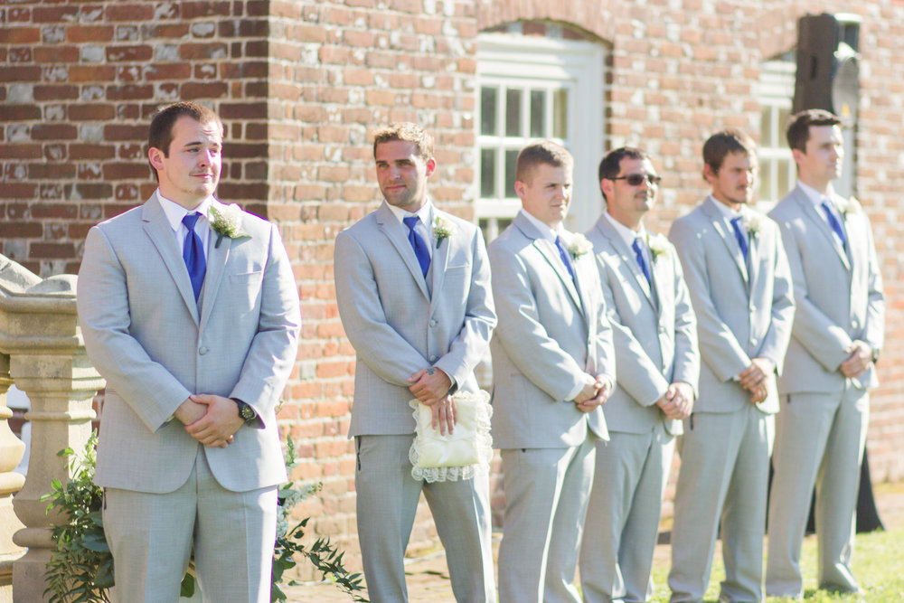 Kolton had everybody choking up when he first saw his bride to be walking down the aisle. His face says it all.