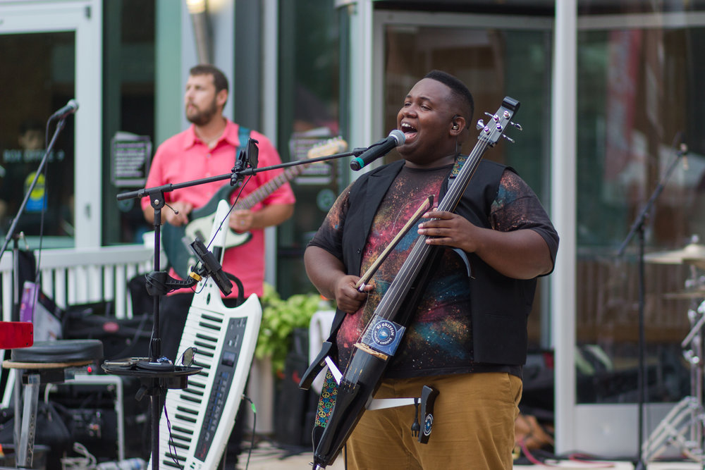 BJ of BJ Griffin and the Galaxy Groove- a local Virginia Beach band.