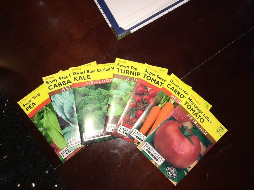 heirloom seed packets for garden! sustainable living