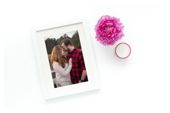 framed engagement pictures